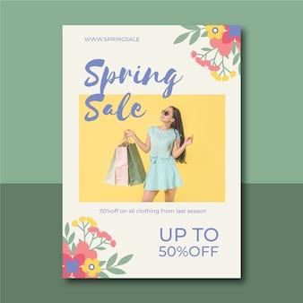 Cartel de venta de primavera