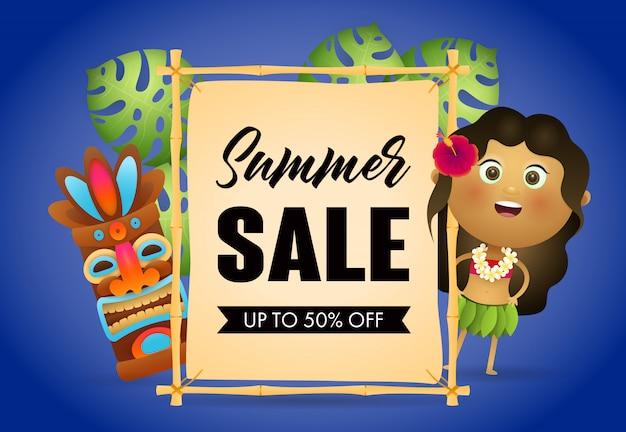 Cartel de venta de venta de verano.