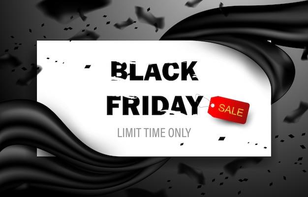 Cartel de venta de viernes negro. banner de evento de descuento comercial.