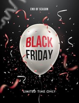 Cartel de venta de viernes negro o diseño de banner.