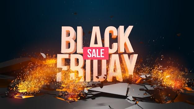 Cartel de venta de viernes negro
