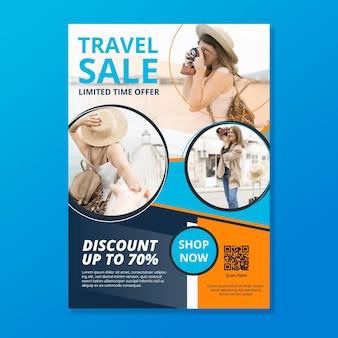 Cartel de ventas itinerante con foto.