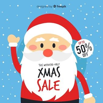 Cartel de ventas navideñas
