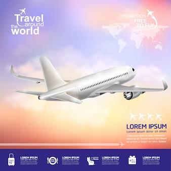 Cartel de viaje alrededor del mundo