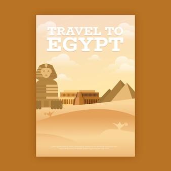 Cartel de viaje con egipto