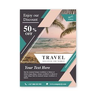 Cartel de viaje con foto