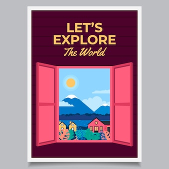 Cartel de viaje ilustrado