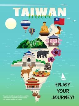 Cartel de viaje de taiwán