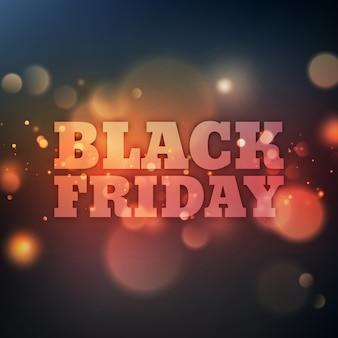 Cartel de viernes negro con bokeh.