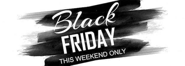 Cartel de viernes negro o promoción de venta de pancartas