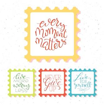 Cartel vintage con cita de motivación sobre fondo abstracto
