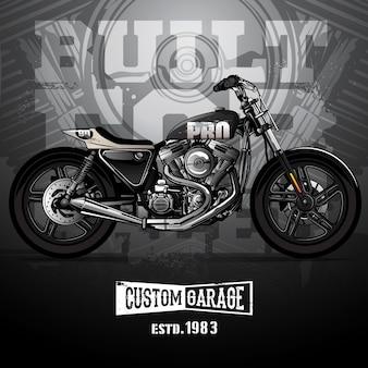 Cartel vintage motocicleta srambler