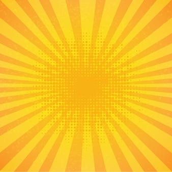 Cartel vintage sunburst