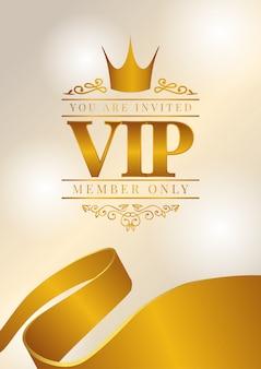 Cartel vip con corona dorada.
