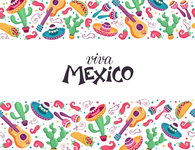 Cartel de viva mexico