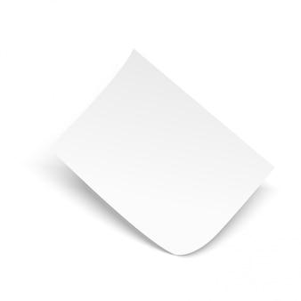 Cartel de volante a4 en blanco aislado. vector