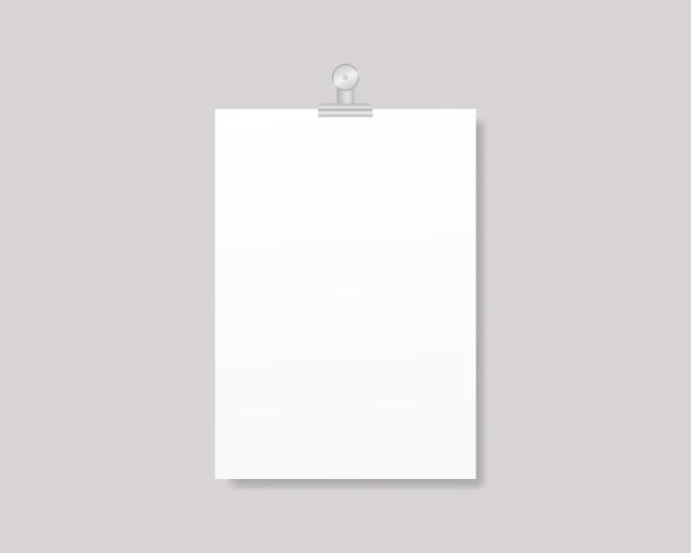 Cartel volante en blanco. vacíe la maqueta de marco de papel de tamaño a4 o a3. diseño de plantilla ilustración realista