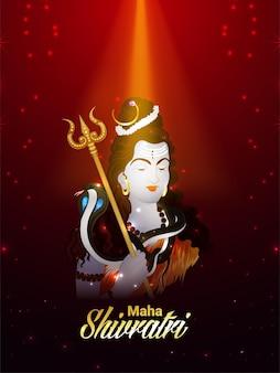 Cartel y volante lord shiva de la celebración de maha shivratri