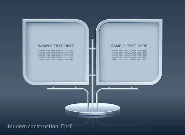 Cartelera publicitaria, diseño de elementos web, construcción moderna