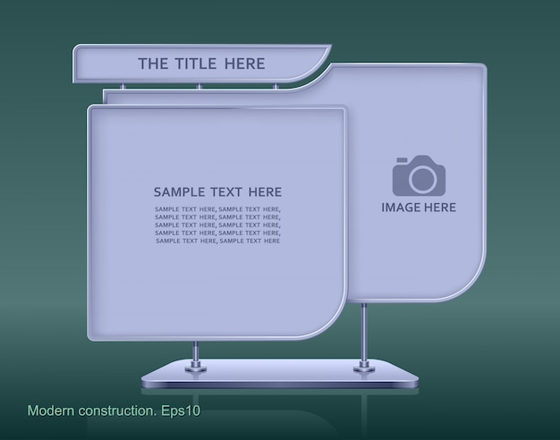 Cartelera publicitaria, diseño de elementos web