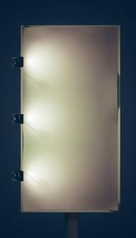 Cartelera vertical en blanco