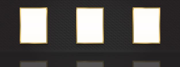Carteles de cine. cuadros en blanco con marcos