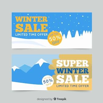 Carteles de compras de invierno