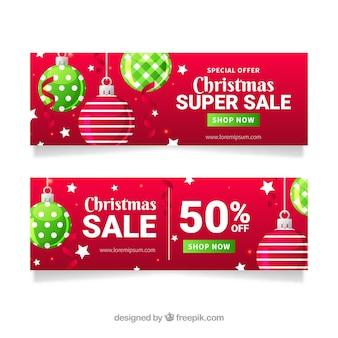 Carteles de compras navideñas