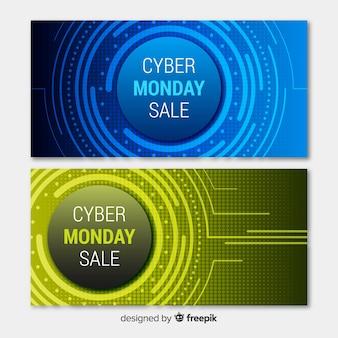 Carteles de cyber monday
