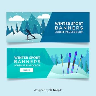 Carteles de deportes de invierno