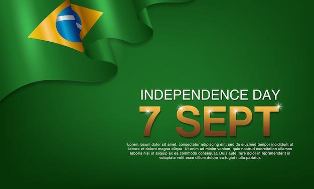 Carteles del día de la independencia brasileña
