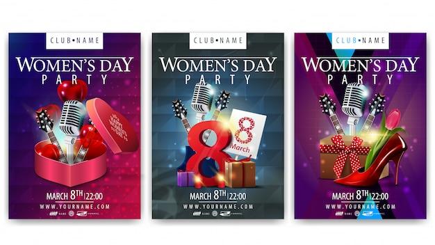 Carteles para el día de la mujer para fiestas.
