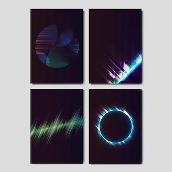 Carteles de efecto de luz neón.