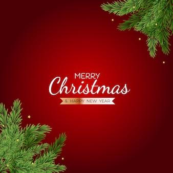 Carteles de feliz navidad y próspero año nuevo.