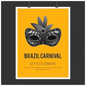Carteles festivos de carnaval.