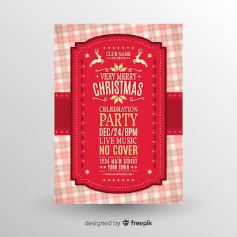 Carteles de fiesta de navidad