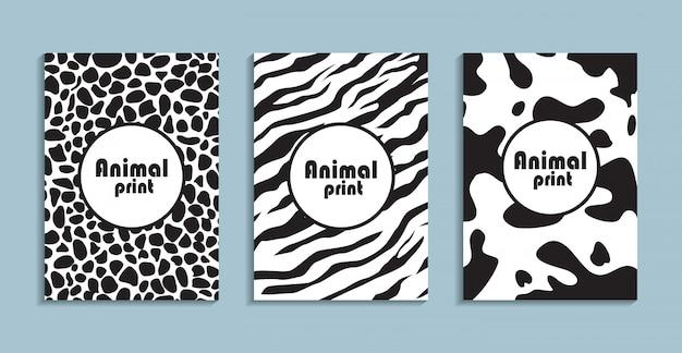 Carteles con líquido abstracto, elementos de diseño de los años 80.