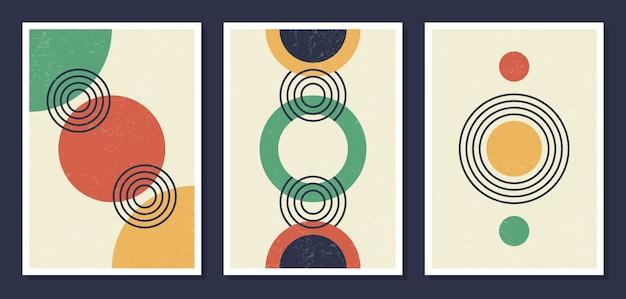 Carteles de pared de arte geométrico minimalista