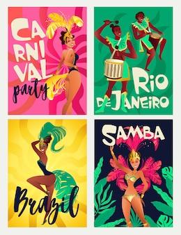 Carteles de samba brasileña
