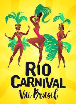 Carteles de samba brasileña.