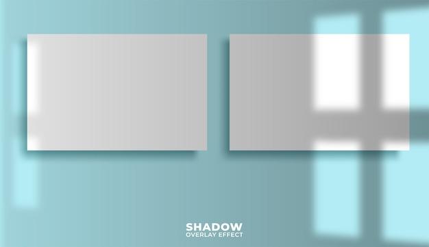 Carteles con superposición de sombras.