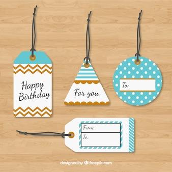 Cartón etiquetas para regalo