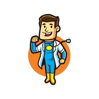 Cartoon doctor super hero