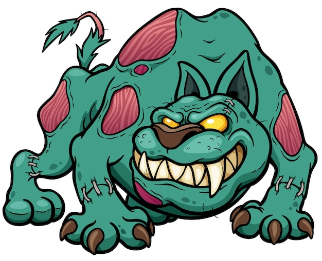 Cartoon dog zombie