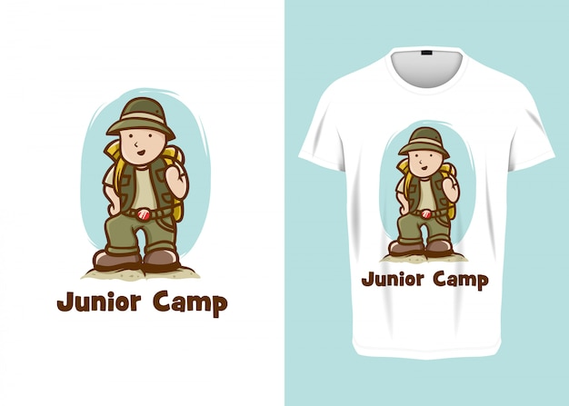 Cartoon junior camp ranger