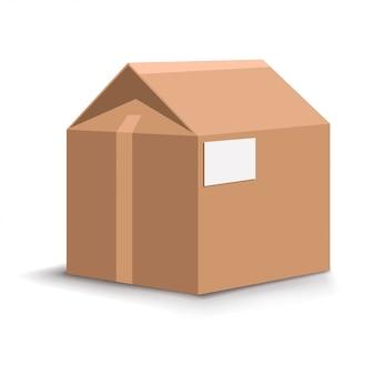 Casa caja de cartón