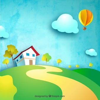 Casa de campo en la colina