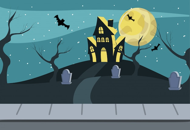 Casa embrujada de halloween
