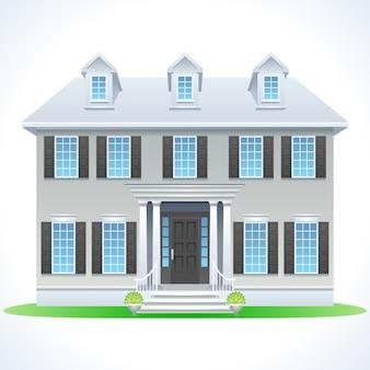 Casa de ensueño suburbana