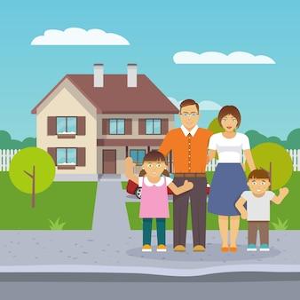 Casa familiar plana